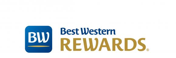 Best Western Rewards Blue and Gold Logo